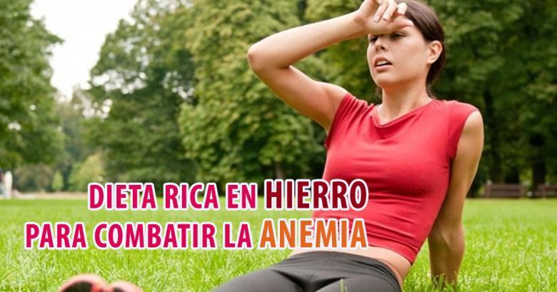 Dieta rica en hierro para combatir la anemia