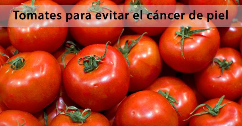 Tomates para evitar el cáncer de piel