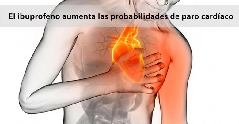 El ibuprofeno aumenta las probabilidades de paro cardíaco