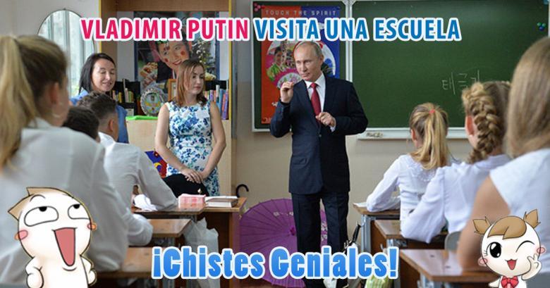 Putin visita una escuela primaria