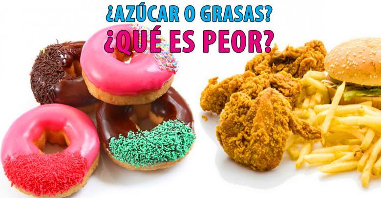 ¿Para adelgazar dejo azúcares o grasas?