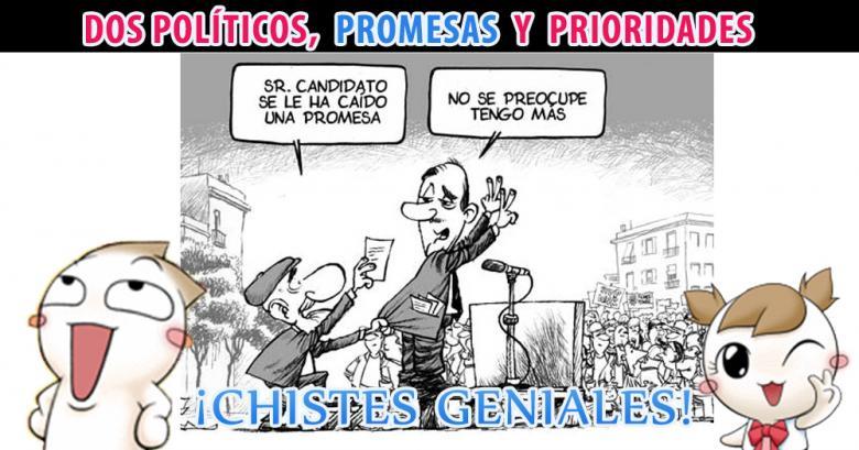 Dos políticos, promesas y prioridades