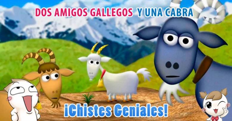 Dos amigos gallegos y una cabra