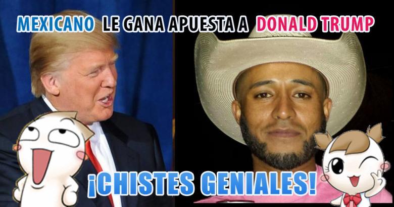 Mexicano le gana apuesta a Donald Trump y lo deja como un tonto