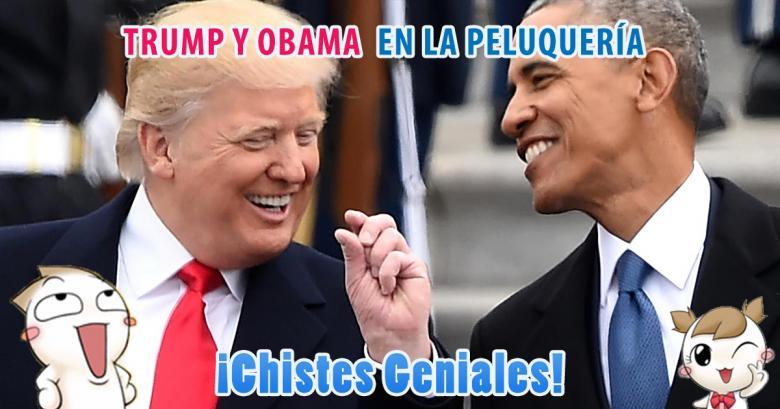 Trump y Obama en la peluquería