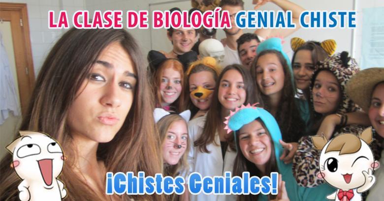 La clase de biología, genial chiste!