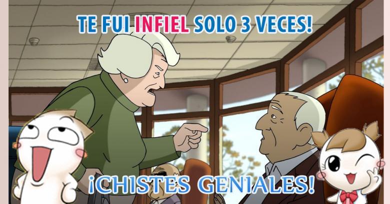 Una parejita de ancianos se confiesa: Te fui Infiel solo 3 veces!
