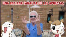 Una anciana fanática de las apuestas