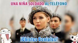 Una Niña Soldado al Teléfono